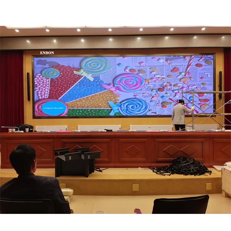 High End Conference Lobby LED Display P1.875 Super Clear Customized TV HD Screen