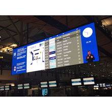P7.62 timetable digital board , depature and arrival information led signage,flight status LED screen, commercial LED billboard for airport