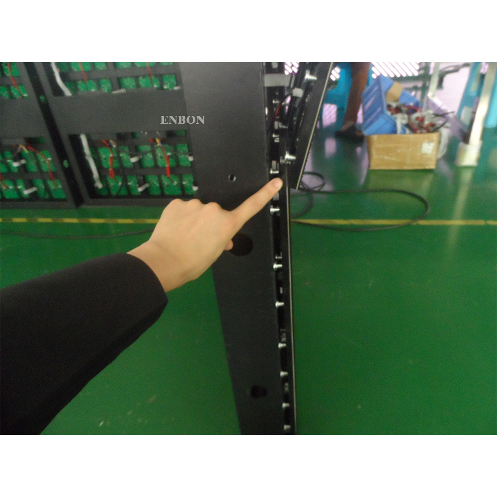 P4 Wall Install Cheap Cost Front Maintain Led Display Screen with Simple Style Iron Cabinet